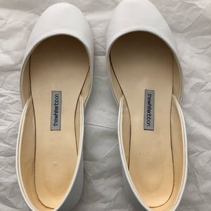 The White Ribbon Ivory Ballet Flats